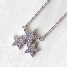 Load image into Gallery viewer, Silver Star Cluster Necklaces