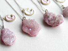 Load image into Gallery viewer, Celestial Pink Druzy Necklaces