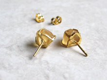 Load image into Gallery viewer, Raw Citrine Point Stud Earrings
