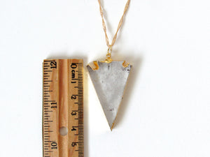 Quartz Arrowhead Necklaces