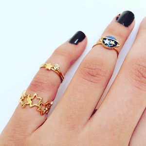 Twinkling Star & Planet Ring Set (4pc)