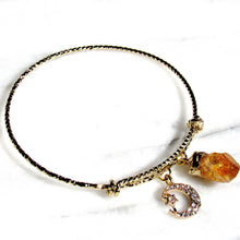 Load image into Gallery viewer, Golden Stardust Citrine Bangles