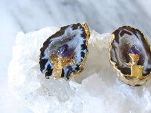 Load image into Gallery viewer, Oco Geode Amethyst Point Necklaces