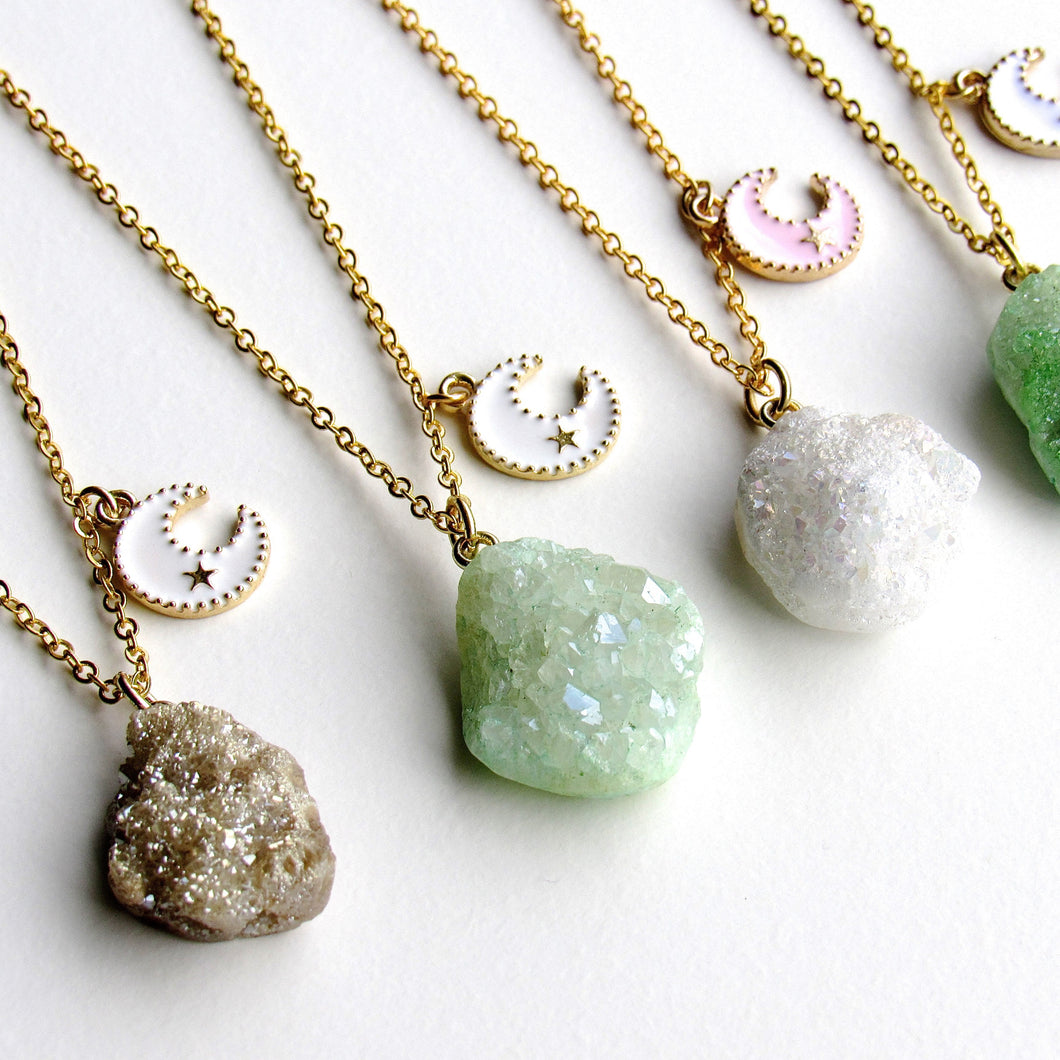 Golden Druzy Necklaces