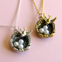 Load image into Gallery viewer, Dove Nest Necklaces (Gold or Silver)