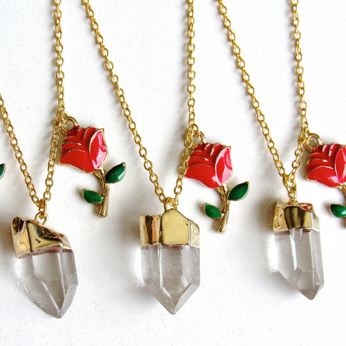 Crystallized Rose Necklaces