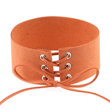 Load image into Gallery viewer, (New!) Lace Up Suede Chokers (4 Colors)