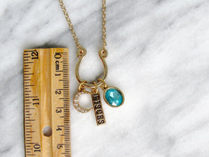 (New!) Jeweled Zodiac Charm Necklaces (12 choices)