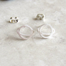 Load image into Gallery viewer, Silver Saturn Earrings