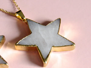 (New!) Golden Dolomite Star Necklaces