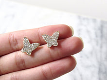 Load image into Gallery viewer, Glittering Butterfly Earrings