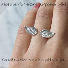 Load image into Gallery viewer, Rose Gold Angel Wing Rings