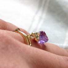 Load image into Gallery viewer, Dangling Amethyst Point Rings