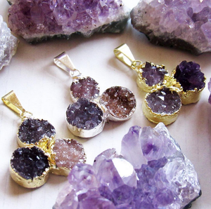 Twinkling Amethyst Druzy Necklaces