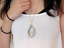 Load image into Gallery viewer, Large Amethyst Geode Necklaces (Gold)
