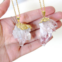 Load image into Gallery viewer, Golden Quartz Cluster Necklaces