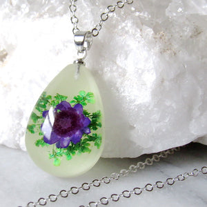 (On Sale!) Spring Showers Real Flower Necklaces