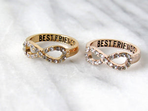 Gold Friends for Life Rings