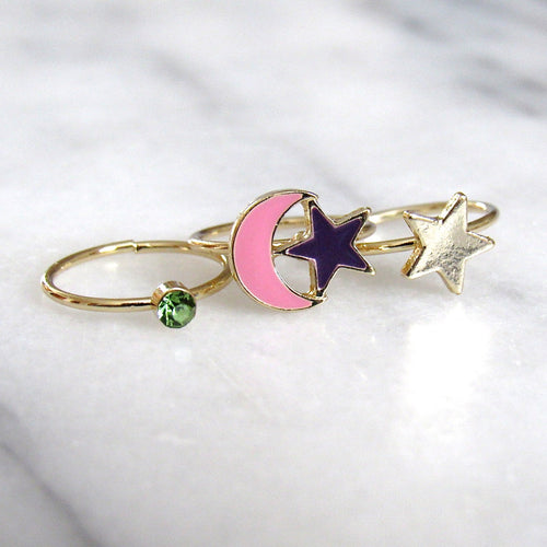 Starry Night Midi Ring Set (3pc)