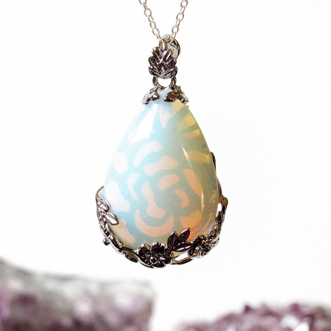 Blooming Opalite Necklaces
