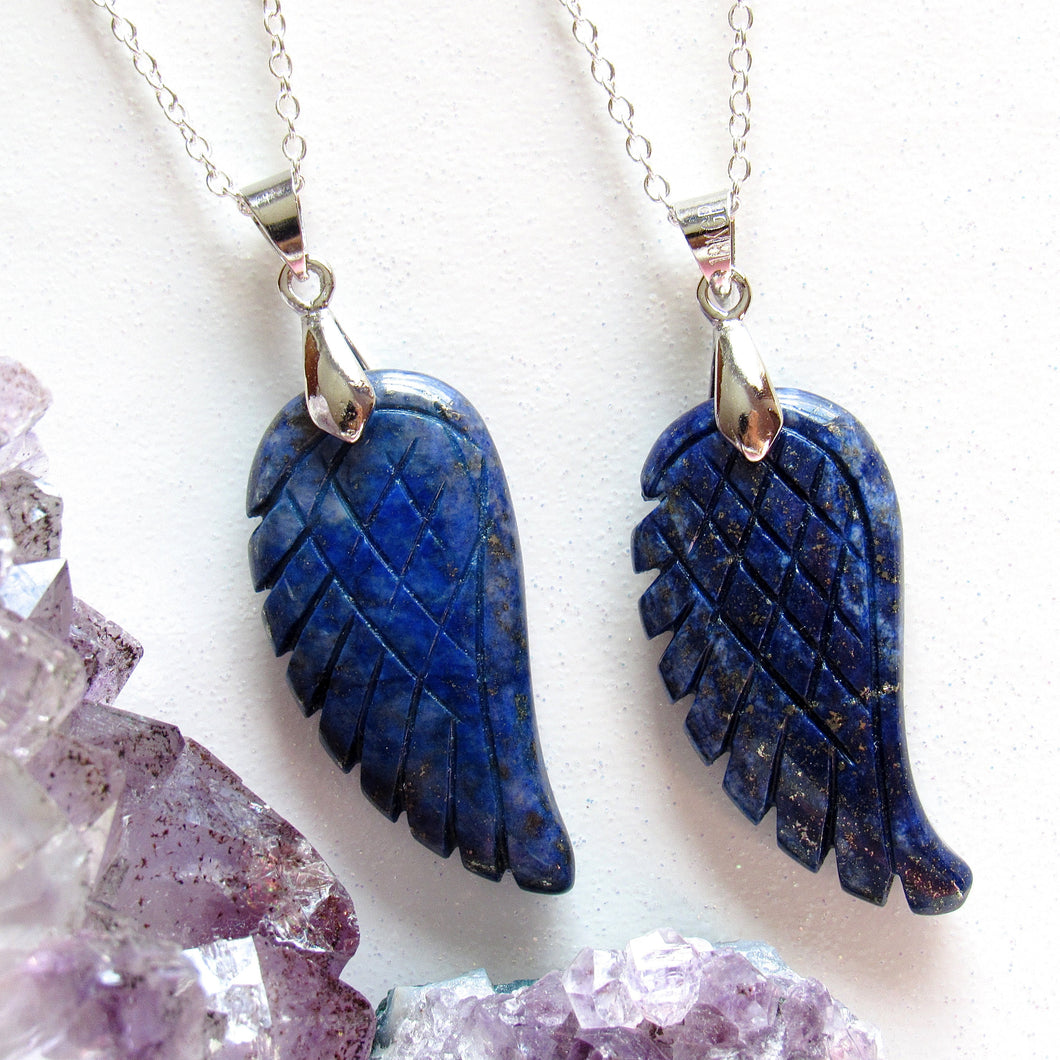 Lapis Lazuli Angel Wing Necklaces