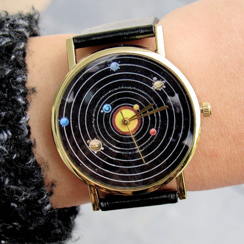 (On Sale!) Solar System Watch  (6 Strap Colors available)