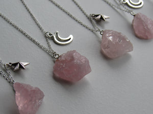 Celestial Rose Quartz Necklaces