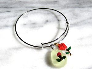 Real Roses Floral Bangle