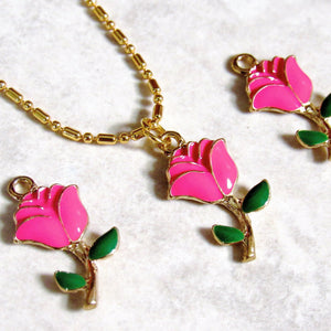 Dark Pink Rose Chokers