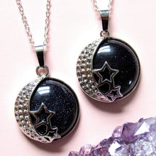 Load image into Gallery viewer, Galactic Goddess Goldstone Necklaces