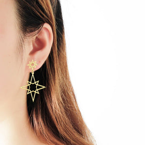 Northern Star Dangle Earrings