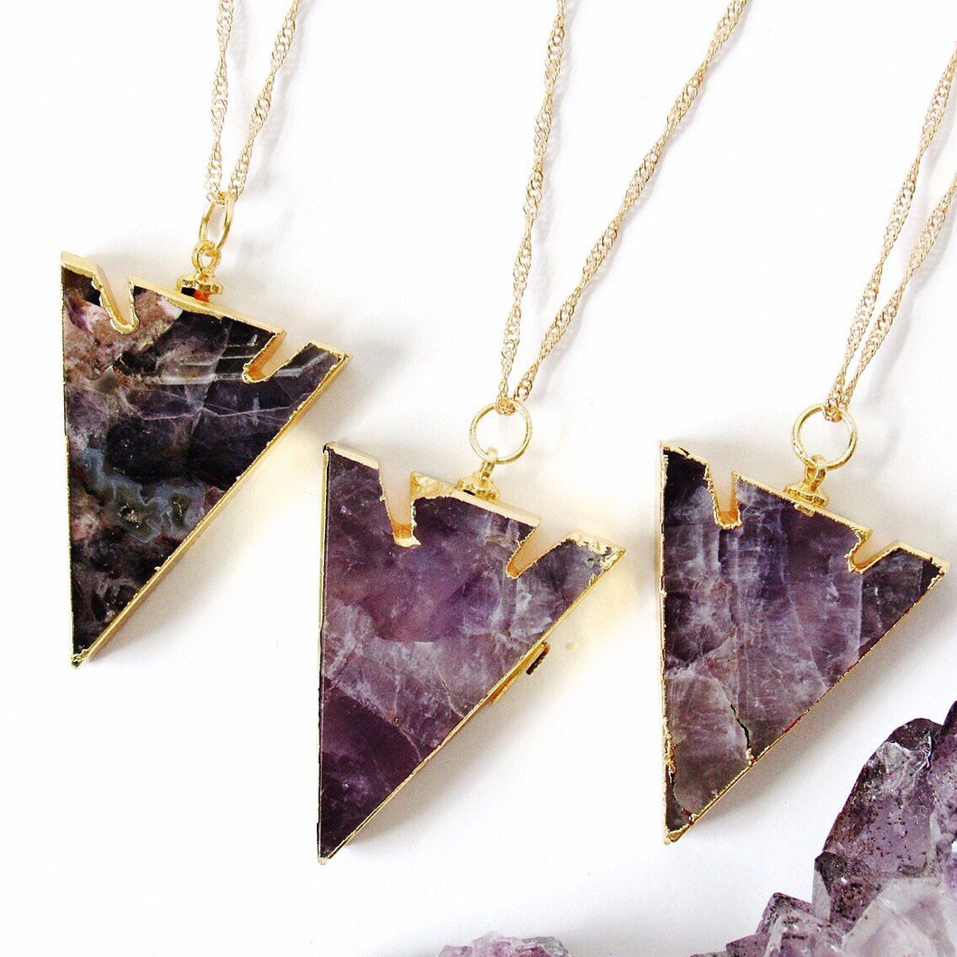 Amethyst Arrowhead Necklaces