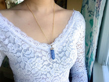 Load image into Gallery viewer, Aqua Cracked Quartz Point Necklaces