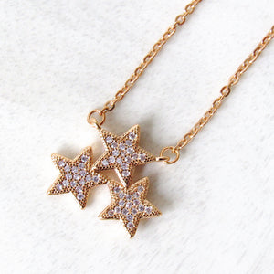 Golden  Star Cluster Necklaces