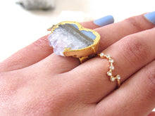 Load image into Gallery viewer, Sliced Amethyst Crystal Rings