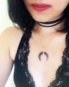 Amethyst Moon Necklaces