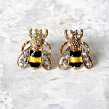 Load image into Gallery viewer, (On Sale!) Bumblebee Stud Earrings