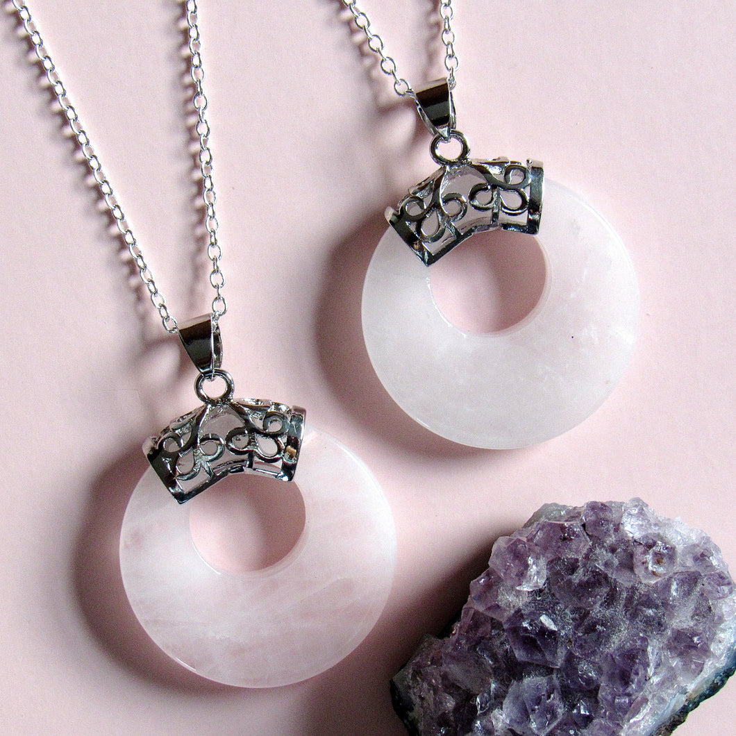 Supernova Rose Quartz Necklaces