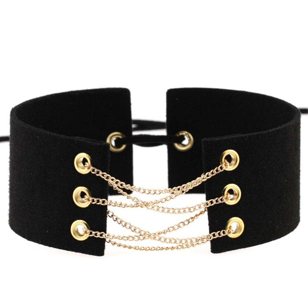 (New!) Golden Lace Up Chokers