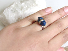 Load image into Gallery viewer, Lapis Lazuli Bullet Rings