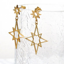 Load image into Gallery viewer, Northern Star Dangle Earrings
