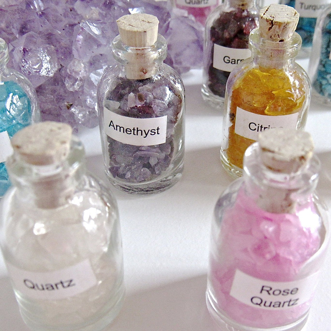 (On Sale!) Set of 3 Gemstone Vials