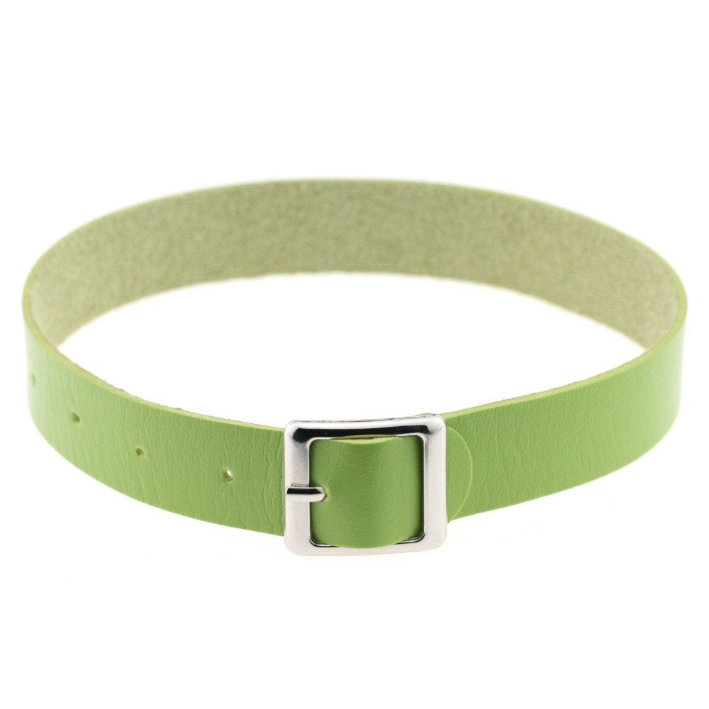 Green Buckle Choker