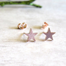 Load image into Gallery viewer, Rose Gold Star Earrings
