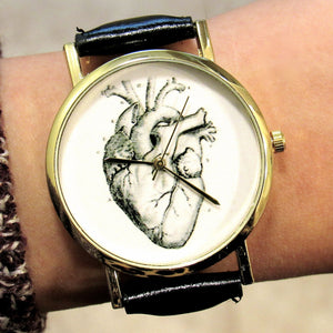 (On Sale!) Anatomical Heart Watch (5 Strap Colors)