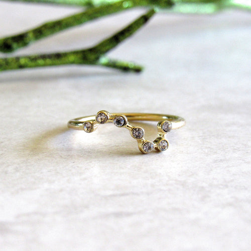 Gold Big Dipper Constellation Rings