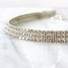 Load image into Gallery viewer, Bella Rhinestone Choker (3 rows)