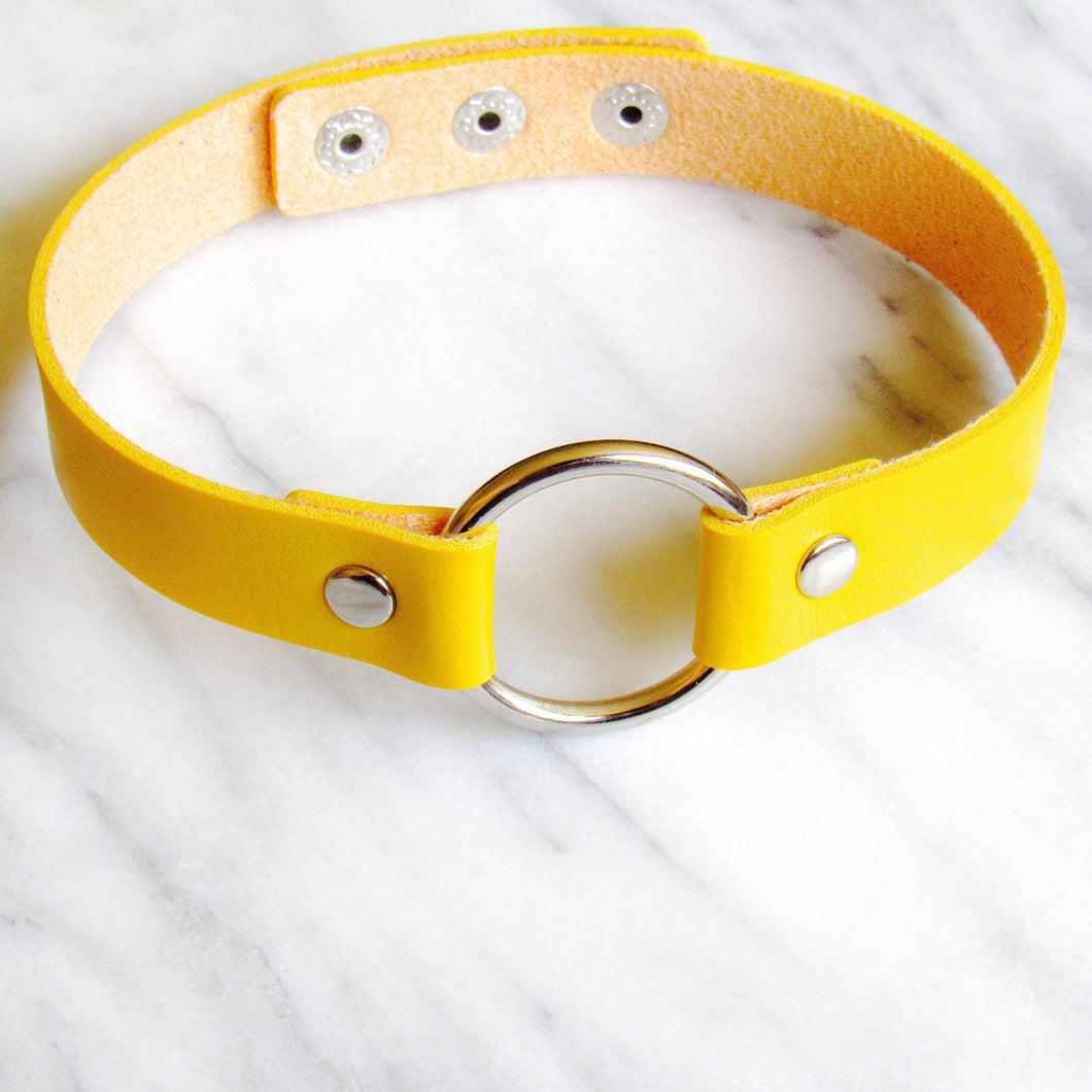 Yellow Hoop Choker