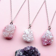Load image into Gallery viewer, Enchanted Pastel Pink Druzy Necklaces