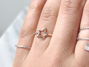 Rose Gold Starlight Rings